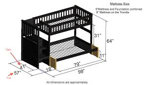 Free Plans For Twin Loft Bed by Discovery World Furniture Twin Over Twin Espresso Staircase Bunk