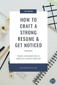 How To Make A Strong Resume How To Make A Strong Resume Vigor Bars Ga
