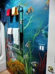 bathroom mural self adhesive peel stick photo underwater life wall