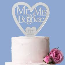 acrylic cake toppers personalized mr mrs heart acrylic topper personalized favors