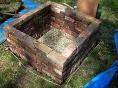 Brick Fire Pits by Brick Firepit Garden Paths Firepits Pinterest Bricks Brick