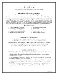 resume objective sample for hospitality resume template example