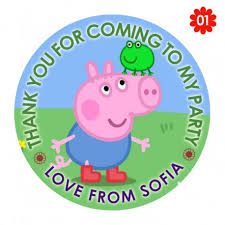 peppa pig party peppa pig party stickers thank you seals