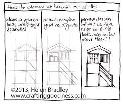 drawing houses step by step how to draw a beach house on stilts crafting goodness