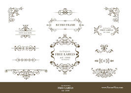 13 free vintage ornaments and dividers vector vice