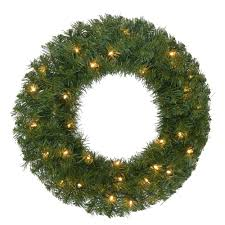 Artificial Christmas Wreaths To Be Decorated by Home Accents Holiday 24 In Pre Lit Noble Fir Artificial Christmas