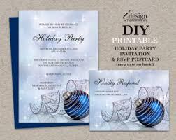 Christmas Ornament Party Invitations - elegant holiday party invitation diy printable christmas