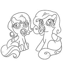 pony friendship magic baby coloring pages baby