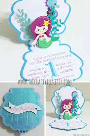 Invitation Card Birthday Mermaid Birthday Invitations Plumegiant Com