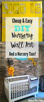 Gray And Yellow Nursery Decor Gray And Yellow Nursery With Easy Diy Wall Tales