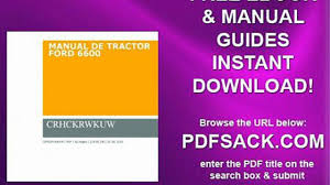 manual de tractor ford 6600 video dailymotion