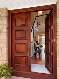 How To Stain Mohagany Doors Youtube by Dark Stained Front Door Houzz