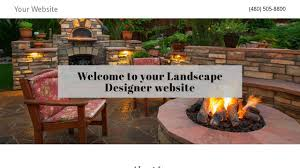 landscape designer website templates godaddy