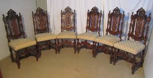 Victorian Dining Chairs Set Of 6 Victorian Gothic Oak Dining Chairs Antiques Atlas