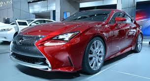 new lexus rc 350 shows off its luminous red paint in detroit