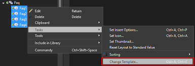 how to change item templates and retain existing data sitecore