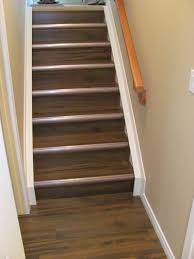 How To Install Laminate Flooring On Stairs With Stair Nose Laminate On Stairs With Cool Tread Trim Basement Ideas