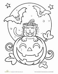 sweet halloween coloring pages cats halloween cat
