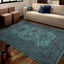 Bright Blue Rug Orian Rugs Bright Grimaldi Blue Area Rug Walmart Com