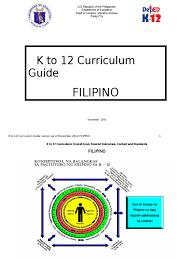 k to 12 curriculum guide filipino pamantayang pangnilalaman