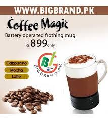 Coffee Magic battery powered coffee magic frothing mug