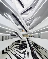 bmw showroom zaha hadid moscow u0027s dominion office building features a trippy atrium