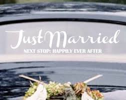 wedding gift next just married next stop happily after wedding car window