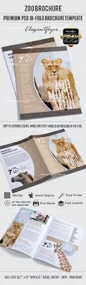 zoo brochure template zoo premium bi fold psd brochure template by elegantflyer