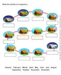 twelve months worksheet 1 math worksheets kindergarten