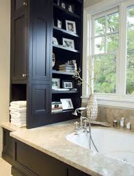 Narrow Shelf Unit Bathroom Small Bathrooms With Clever Storage Spaces