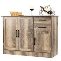 gremlin wheeled kitchen storage sideboard buffet cabinet white wood buy buffets sideboards china cabinets at overstock