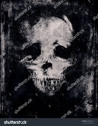 black scary halloween background grunge scary wallpaper skull awesome halloween stock illustration