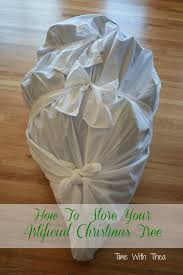 how to store an artificial tree artificial