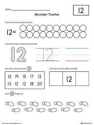 number 12 practice worksheet writing numbers printable