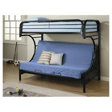 Bunk Bed With Futon On Bottom Wildon Home Fall Creek Bunk Bed Reviews Wayfair