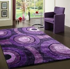 amazon com shaggy viscose lavender solid area rug hand tufted