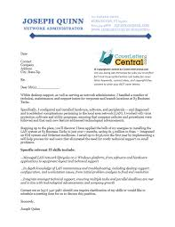 network administrator cover letter sample cover letter central