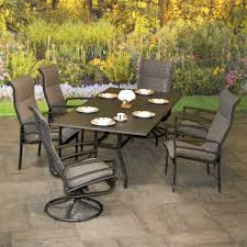 Sling Patio Dining Set Outdoor Patio Furniture Skyway Padded Sling Dining Patio Sets By