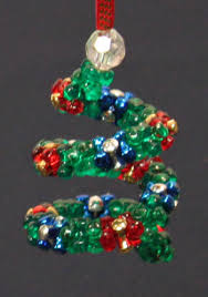 easy crafts spiral beaded ornament made with