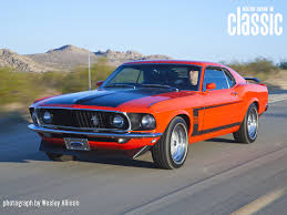 Black And Orange Mustang Vehicles 1969 Ford Mustang Boss Wallpapers Desktop Phone Tablet