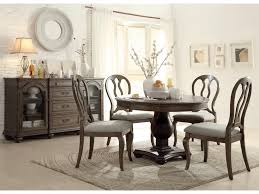 riverside furniture belmeade round extension dining table w