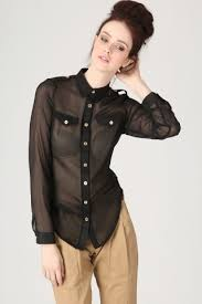 black button blouse sheer button up blouse in black blouses missguided
