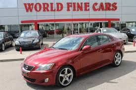 used lexus is 250 toronto world fine cars vehicles for sale in toronto on m8z 5e3