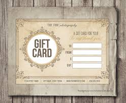 digital gift card gift card template digital gift certificate photoshop