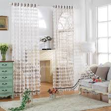 White Sheer Curtains Contemporary White Sheer Curtain For Living Room