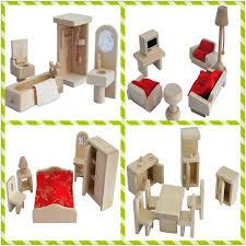 jouet cuisine bois 4 set lote mini simulation de bois meubles en bois jouet cuisine