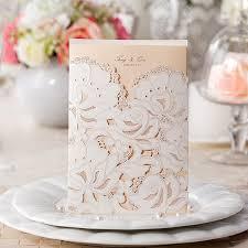 invitation kits floral laser cut wedding invitation kits ewws014 as low