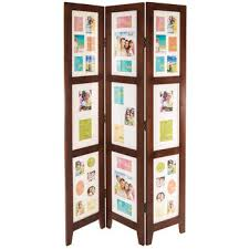 White Room Divider - walnut photo collage room divider with white mats hobby lobby