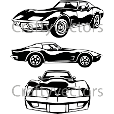 c3 chevrolet corvette vector file