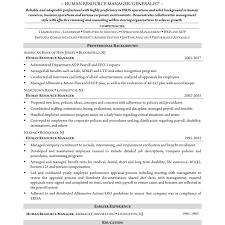 recruiting manager resume template sle hr resume sles cv marvelous humance format